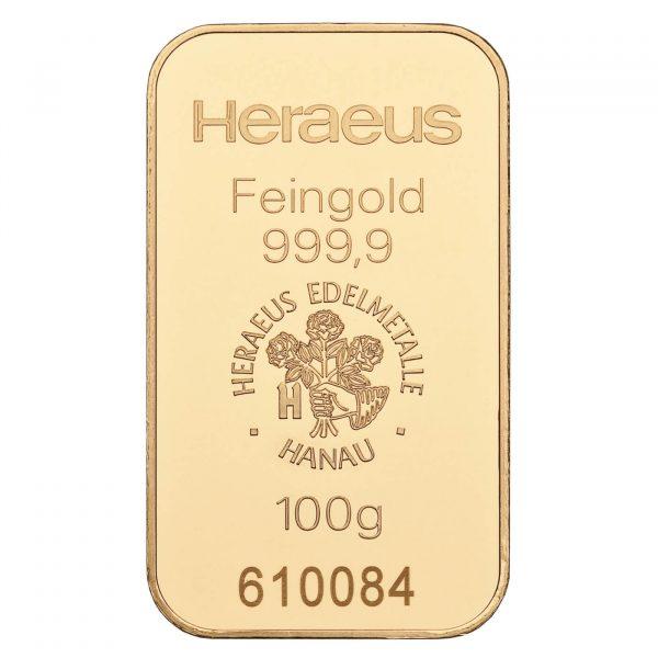 zlatna pločica 100g investiciono zlato