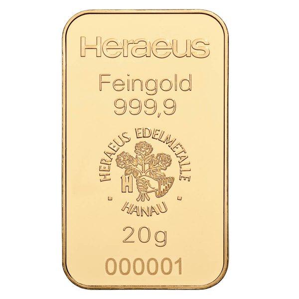 zlatna pločica 20g investiciono zlato